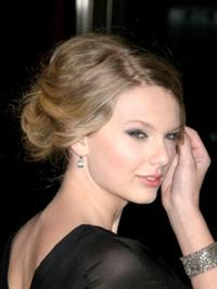 Taylor Swift Loose Updo Hairstyle