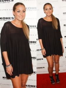 Lauren Conrad in LC Lauren Conrad Black Dress