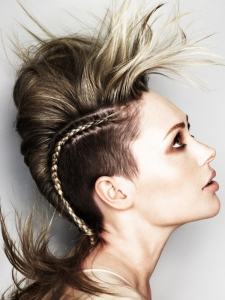 Modern Punk Braided Hairstyle