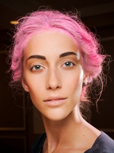 Bright Colored Hair at Thakoon