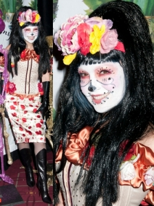 Thalia in La Catrina Halloween Costume