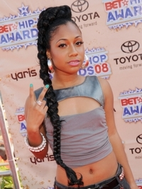 Tiffany Evans Long Braided Pony Hairstyle