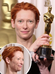 Tilda Swinton Cropped Red Hairstyle