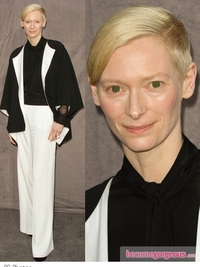 Tilda Swinton in Yves Saint Laurent