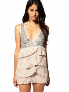 True Decadence Sequin Ruffle Dress