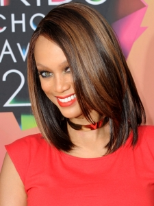Tyra Banks Long Layered Bob Hairstyle