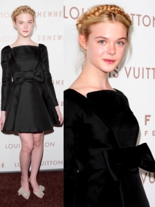 Elle Fanning in Valentino Black Dress