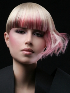 Glam Punk Pink Hair Highlights