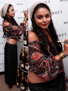 Vanessa Hudgens in Ella Moss Black Maxi Skirt