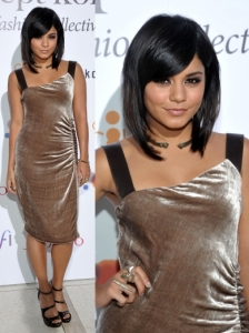 Vanessa Hudgens in Illia Velvet Dress