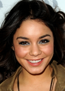 Vanessa Hudgens Metallic Blue Eye Makeup