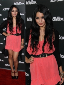 Vanessa Hudgens in Nelly Silk Dress