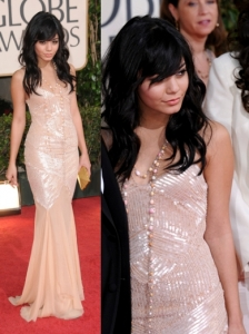 Vanessa Hudgens in Alberta Ferretti Sequined Gown