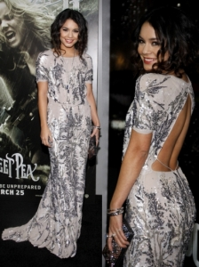Vanessa Hudgens in Jenny Packham Sequin Gown