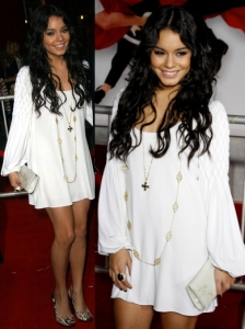 Vanessa Hudgens in Calvin Klein White Dress