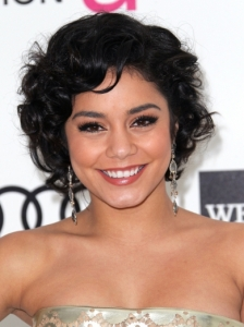 Vanessa Hudgens Short Curly Hairstyle