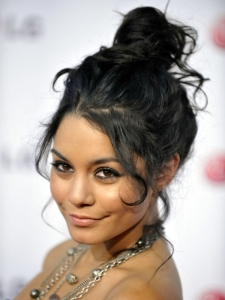 Vanessa Hudgens Messy High Updo