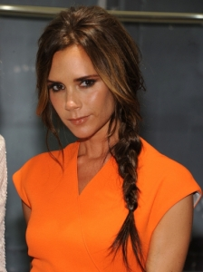 Victoria Beckham Tousled Side Braid