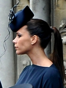Victoria Beckham Royal Wedding Ponytail