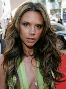 Victoria Beckham Long Wavy Hairstyle