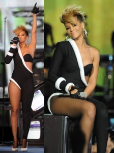 Rihanna in Victoria's Secret Catsuit