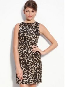 Vince Camuto Sleeveless Print Sheath Dress