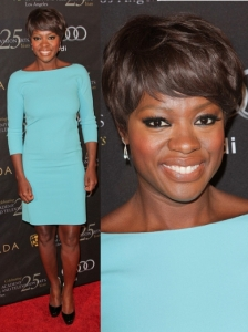 Viola Davis in Turquoise Dress