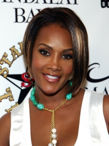 Vivica Fox Asymmetric Bob Haircut