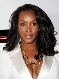 Vivica Fox Shoulder-Length Curly Hairstyle