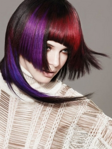 Two-Tone Bold Hair Color Idea
