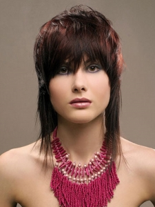 Medium Feather Cut Hair Style