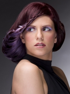 Chic Purple Hair Highlights Idea