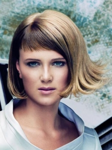 Two Tone Medium Hair Style