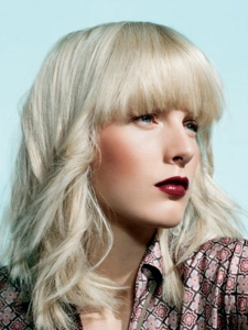 Medium Platinum Hair Style