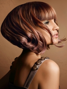 Medium Texturised Bob Hair Style