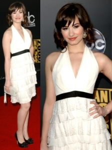 Demi Lovato in Gustavo Cadille White Dress