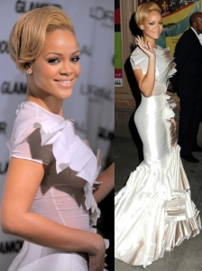 Rihanna in Stephane Rolland Ziberline Mermaid Dress
