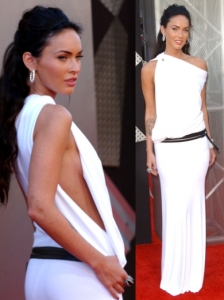 Megan Fox in Kaufman Franco Long White Dress