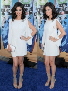 Selena Gomez in BCBG Max Azria White Dress