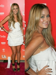 Lauren Conrad in Camilla and Marc White Dress