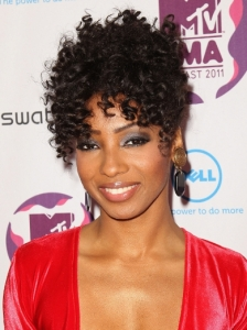 Wynter Gordon Retro Tight Curl Updo at the 2011 EMA