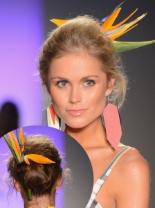 Messy Updo at Xtra Life Lycra Swimwear