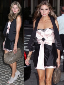 Olivia Palermo in Zac Posen Cocktail Dress