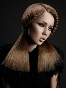 Voguish Long Braided Hairstyle