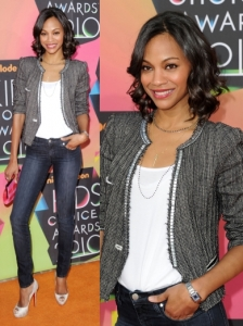 Zoe Saldana in Isabel Marant Jacket