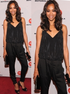 Zoe Saldana in Barbara Bui Harem Pants