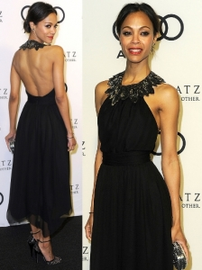 Zoe Saldana in Jason Wu Embellished Neck Dress