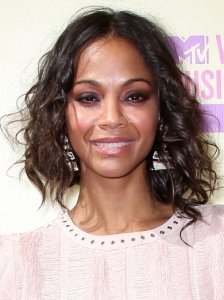 Zoe Saldana Loose Curls Hairstyle