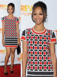 Zoe Saldana in Lena Lange Dress