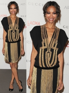 Zoe Saldana in Gucci Flapper Dress